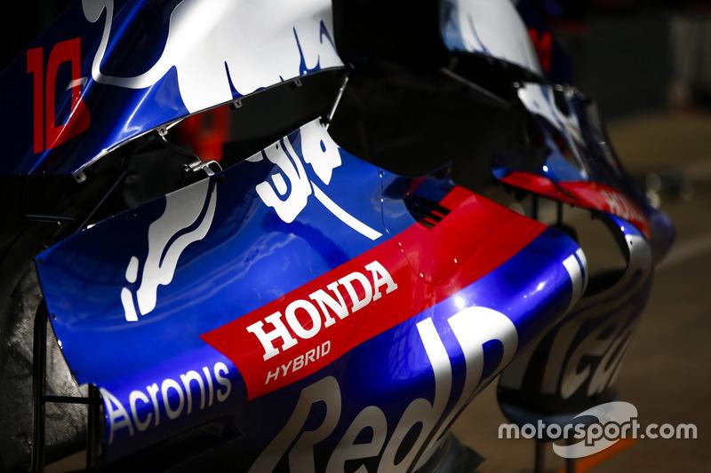 Le logo Honda sur une Toro Rosso STR13