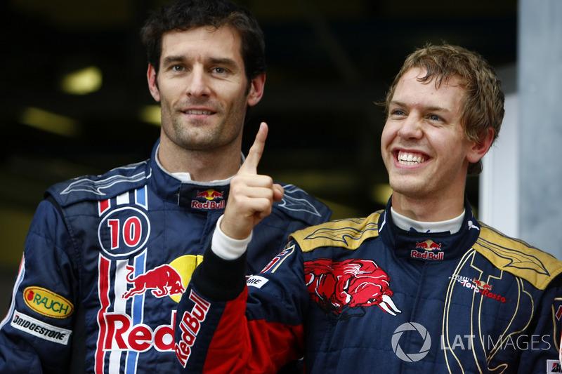 Pole Sebastian Vettel, Toro Rosso, Mark Webber, Red Bull Racing
