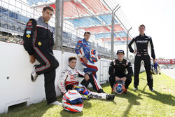 Rookies Jack Le Brocq, James Golding, Richie Stanaway, Todd Hazelwood and Anton De Pasquale
