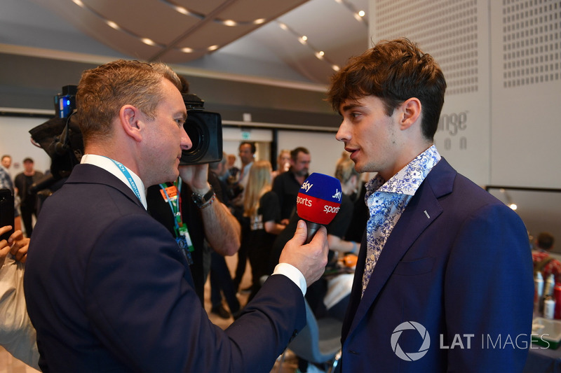 Craig Slater, Sky TV and Charles Leclerc, Sauber