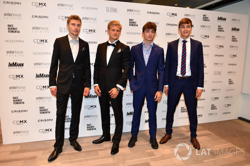 Sergey Sirotkin, Williams, Marcus Ericsson, Sauber, Charles Leclerc, Sauber and George Russell,