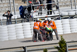 Choque de Aleix Espargaró, Aprilia Racing Team Gresini