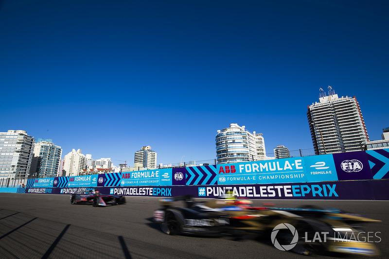 Jean-Eric Vergne venceu o ePrix de Punta del Este, no Uruguai. O francês, líder do campeonato, segurou o brasileiro Lucas di Grassi, que terminou em 2º.