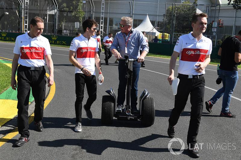 Шарль Леклер, Alfa Romeo Sauber F1 Team, Джонни Херберт, ведущий Sky TV