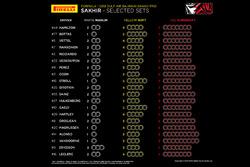 Выбор шин на Гран При Бахрейна-2018