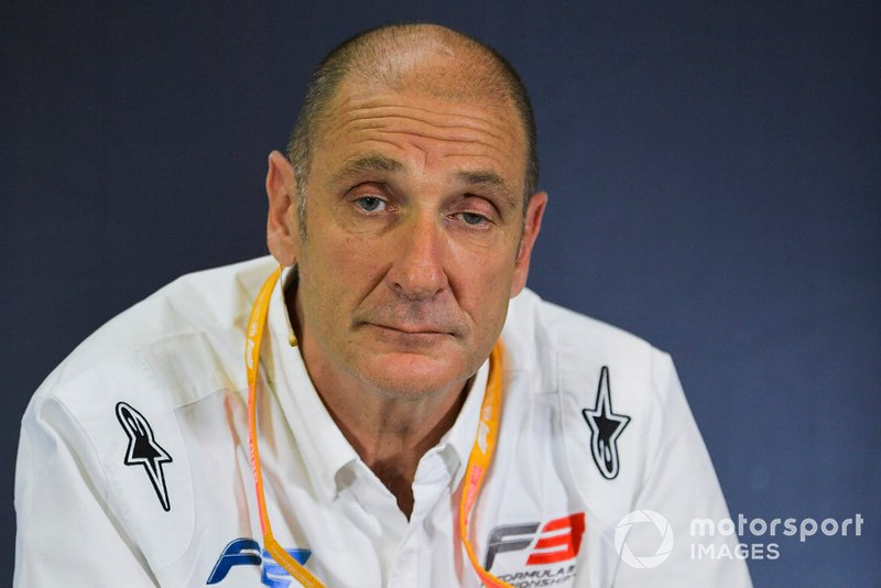 Bruno Michel in Press Conference for new F2 tyres