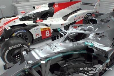 Toyota LMP1 car vs Mercedes F1 car