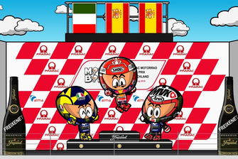El podio del GP de Alemania de MotoGP 2018, por MiniBikers