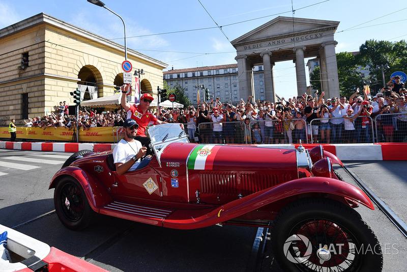 Kimi Raikkonen, Ferrari con un Alfa Romeo histórico