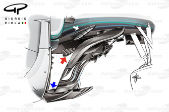 Mercedes F1 W09 bargeboard, Monza
