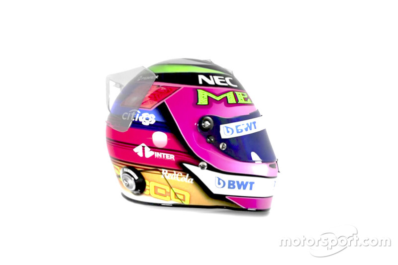 Il casco speciale di Sergio Pérez, Racing Point Force India, per il GP del Messico