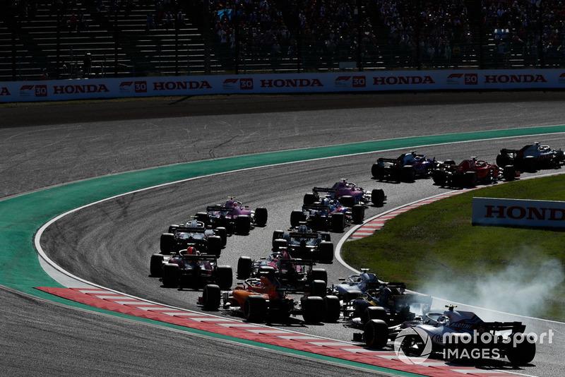 Фернандо Алонсо, McLaren, Нико Хюлькенберг, Renault Sport F1 Team, и Лэнс Стролл, Williams FW41