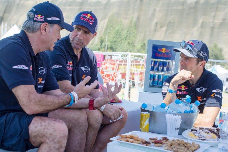 #300 X-Raid Mini JCW Team: Carlos Sainz, #304 X-Raid Mini JCW Team: Stéphane Peterhansel, #308 X-Raid Mini JCW Team: Cyril Despres