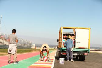Bauarbeiten am Circuito San Juan Villicum