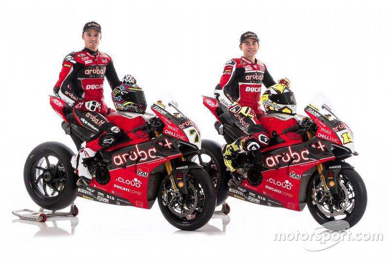 Chaz Davies, Alvaro Bautista, Aruba.it Racing-Ducati SBK Team