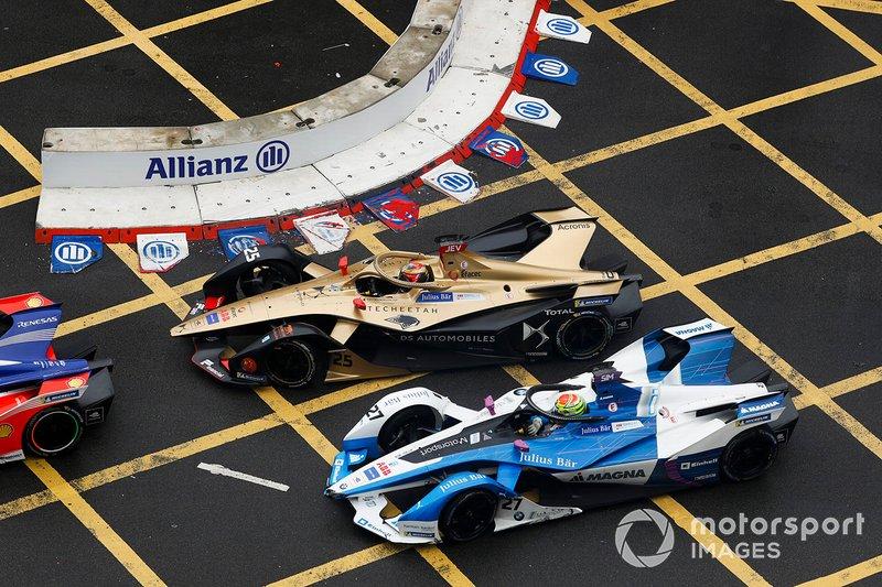 Jean-Eric Vergne, DS TECHEETAH, DS E-Tense FE19, Alexander Sims, BMW I Andretti Motorsports, BMW iFE.18