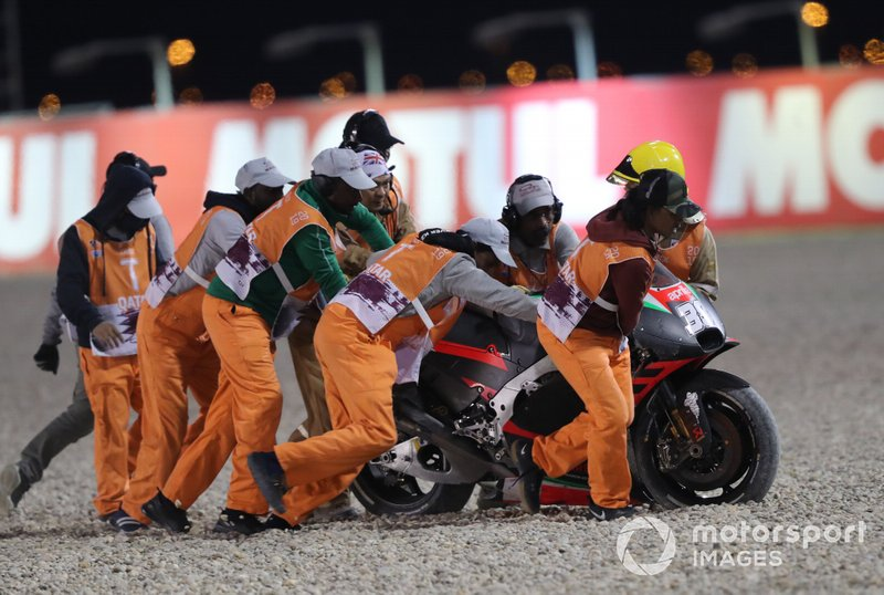 Bradley Smith, Aprilia Racing Team Gresini crash