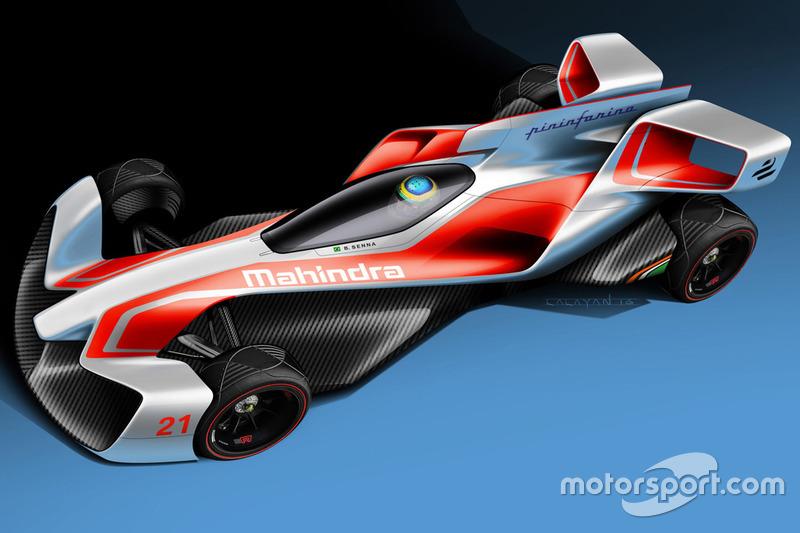 Konsep mobil Formula E Mahindra Racing Pininfarina