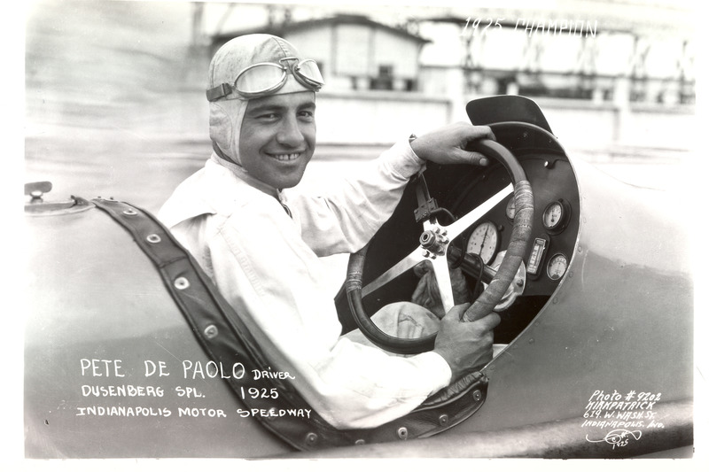 Race winner Peter DePaolo