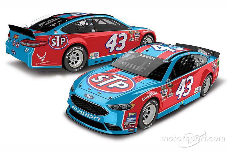 Throwback-Design von Aric Almirola, Richard Petty Motorsports, Ford