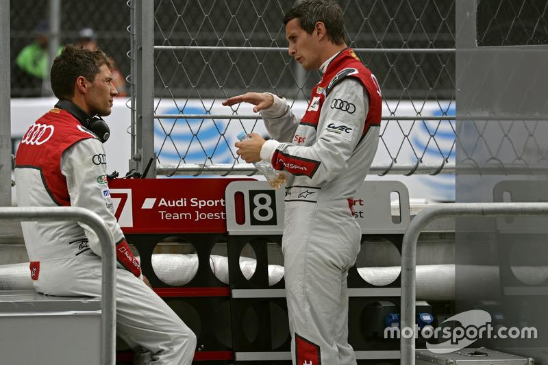 #8 Audi Sport Team Joest Audi R18 e-tron quattro: Loic Duval, Oliver Jarvis