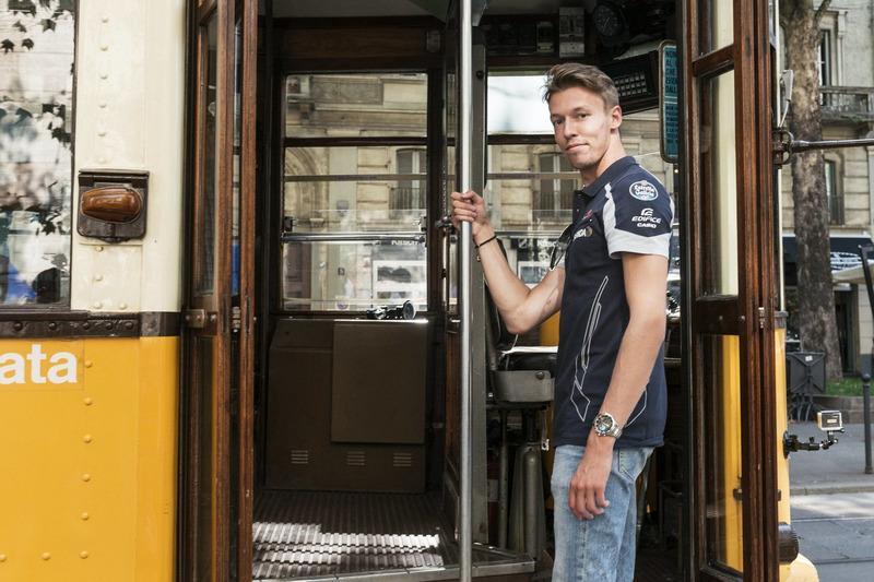 Daniil Kvjat, tarihi Milano tramvayında