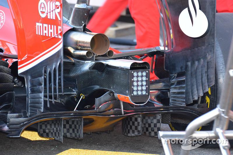 Detail vom Diffuser, Ferrari SF16-H