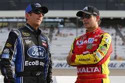 Greg Biffle, Roush Fenway Racing Ford, Jeff Gordon, Hendrick Motorsports Chevrolet