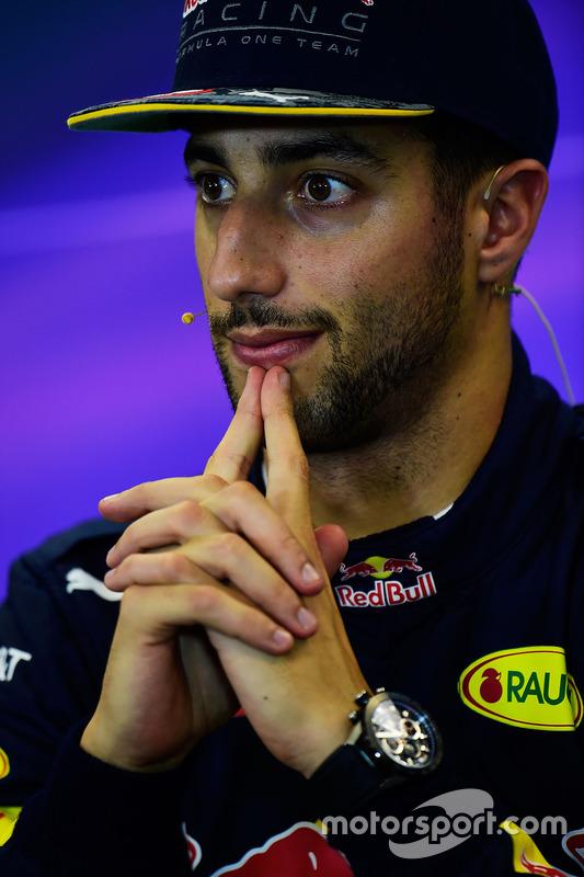 Daniel Ricciardo, Red Bull Racing, lors de la conférence de presse de la FIA