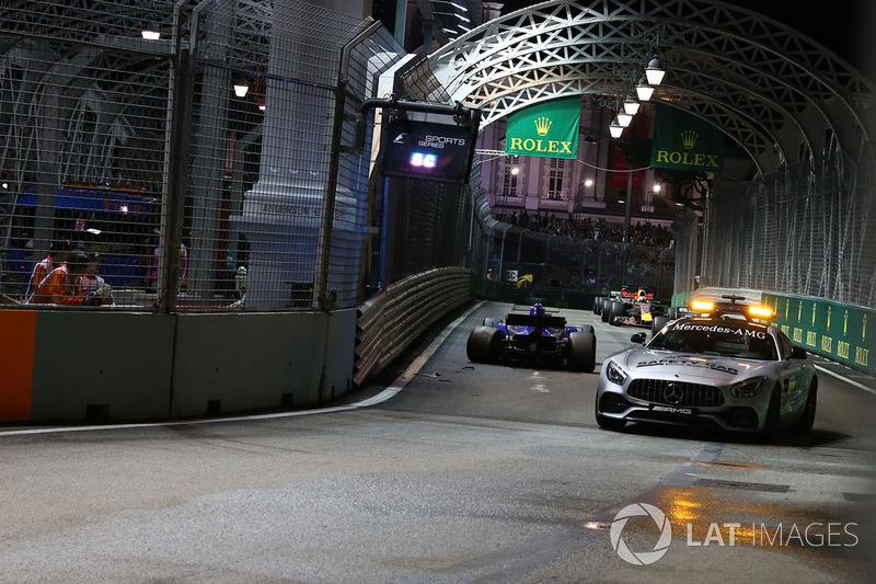 Güvenlik aracı ve kazalı Marcus Ericsson, Sauber C36