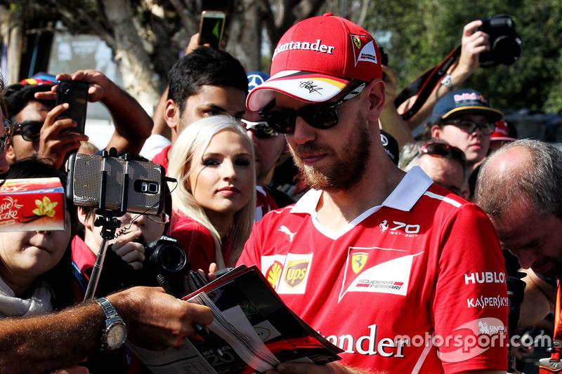 Sebastian Vettel, Ferrari con fans