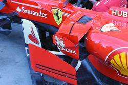 Détail des pontons de la Ferrari SF70H