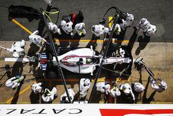 Essai d'arrêt au stand pour Felipe Massa, Williams FW40