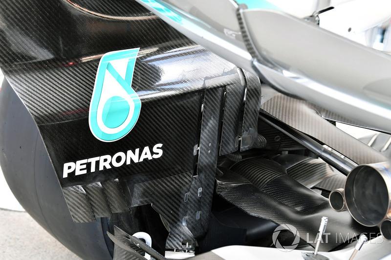 Mercedes AMG F1 F1 W08  achterkant detail