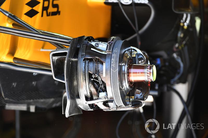 Детали передних тормозов Renault R.S.17