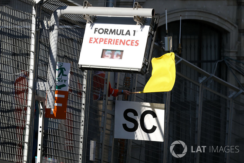 Yellow flag and Safety car board