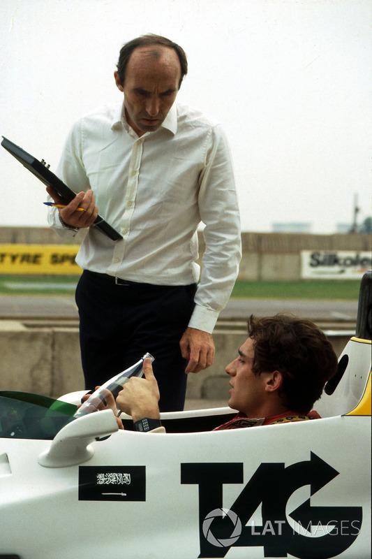 Ayrton Senna, habla de su primera vuelta en el Williams FW08C con el dueño Frank Williams