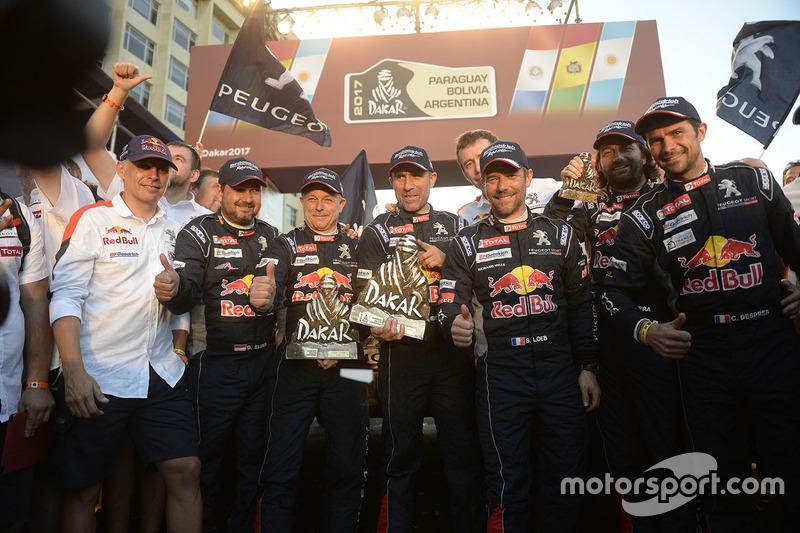 Stéphane Peterhansel, Jean-Paul Cottret, Sébastien Loeb, Daniel Elena, Cyril Despres, David Castera, Peugeot Sport