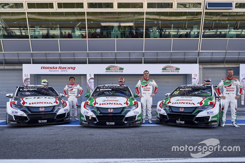 Рьо Мітігамі, Норберт Міхеліс, Тьягу Монтейру, Honda Racing Team JAS, Honda Civic WTCC