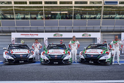 Ryo Michigami, Norbert Michelisz, Tiago Monteiro, Honda Racing Team JAS, Honda Civic WTCC