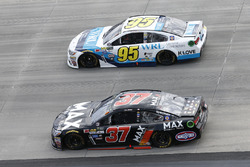 Chris Buescher, JTG Daugherty Racing, Chevrolet; Michael McDowell, Leavine Family Racing, Chevrolet