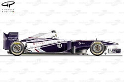 Williams FW33 side view, Spanish GP