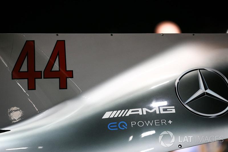 Mercedes AMG F1 F1 W08  engine cover detail