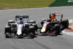 Felipe Massa, Williams FW40, Max Verstappen, Red Bull Racing RB13, battle for position