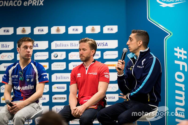 Press Conference:  Robin Frijns, Amlin Andretti Formula E Team, Nick Heidfeld, Mahindra Racing,  Sébastien Buemi, Renault e.Dams