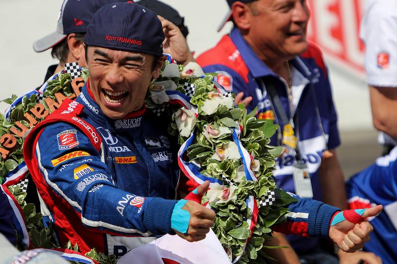 Победитель: Такума Сато, Andretti Autosport Honda
