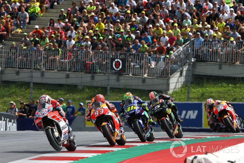 Лідер гонки Андреа Довіціозо, Ducati Team