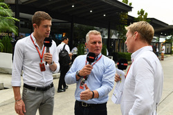 Paul di Resta, Sky TV, Johnny Herbert, Sky TV and Simon Lazenby, Sky TV