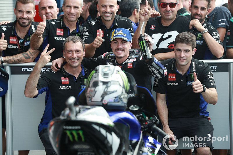 Second place Maverick Vinales, Yamaha Factory Racing