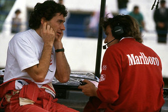Ayrton Senna, McLaren expresses his opinions on the Chrysler / Lamborghini V12 engine that McLaren is evaluating to Pat Fry